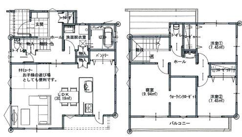 中須賀2丁目 間取り1階2階