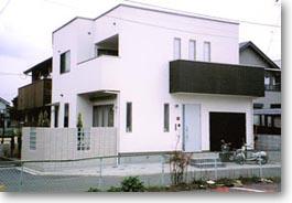 シンプルデザインの家01