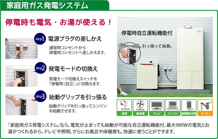 家庭用ガス発電システム