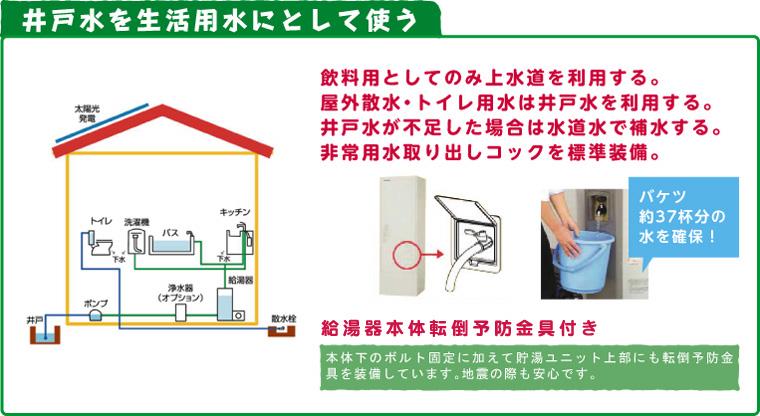 井戸水を生活用水として使う
