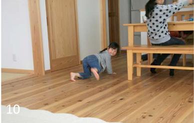 無垢の床は足触りも柔らかで裸足でいることがクセになります。
